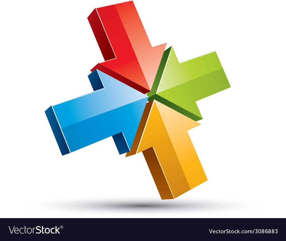 3d arrows icon vector   Price: 1 Credit (USD $1)