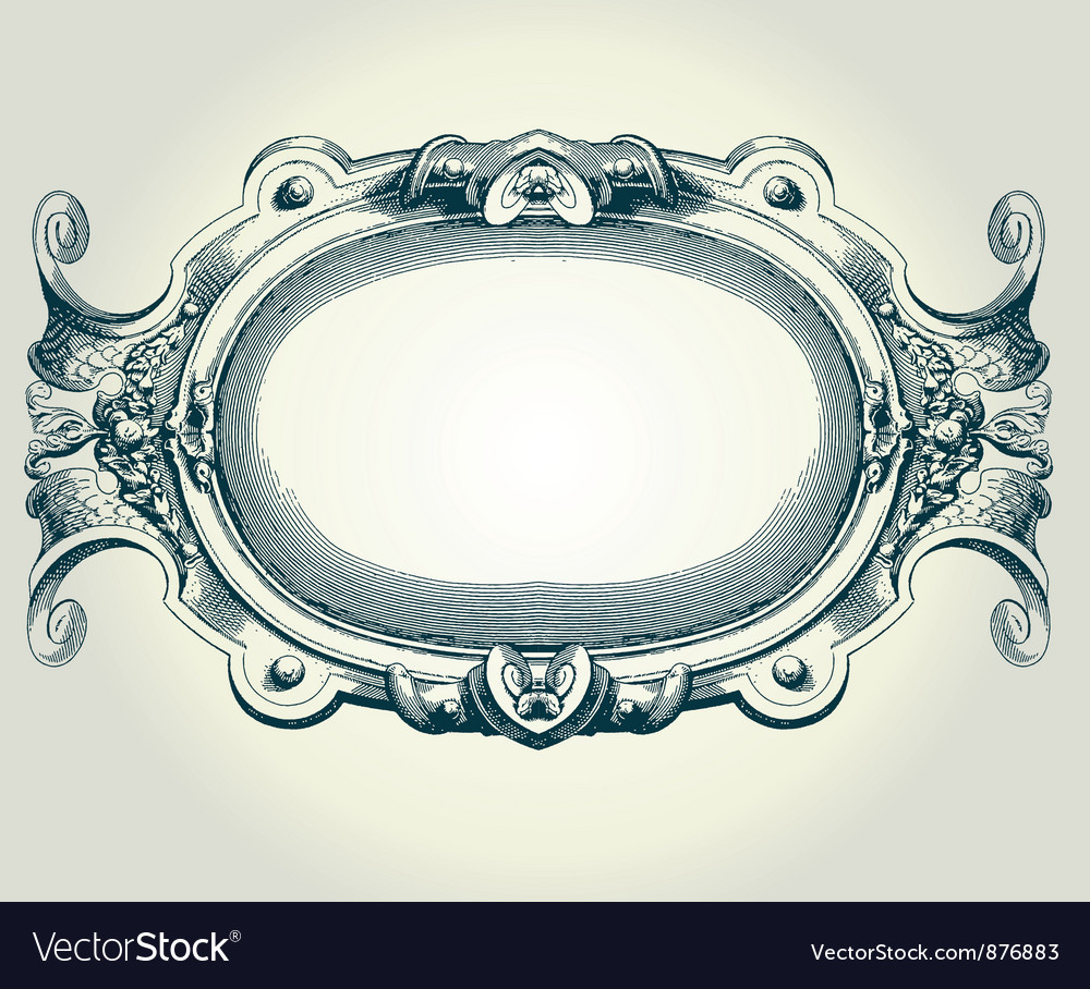 Baroque frame vector | Price: 1 Credit (USD $1)