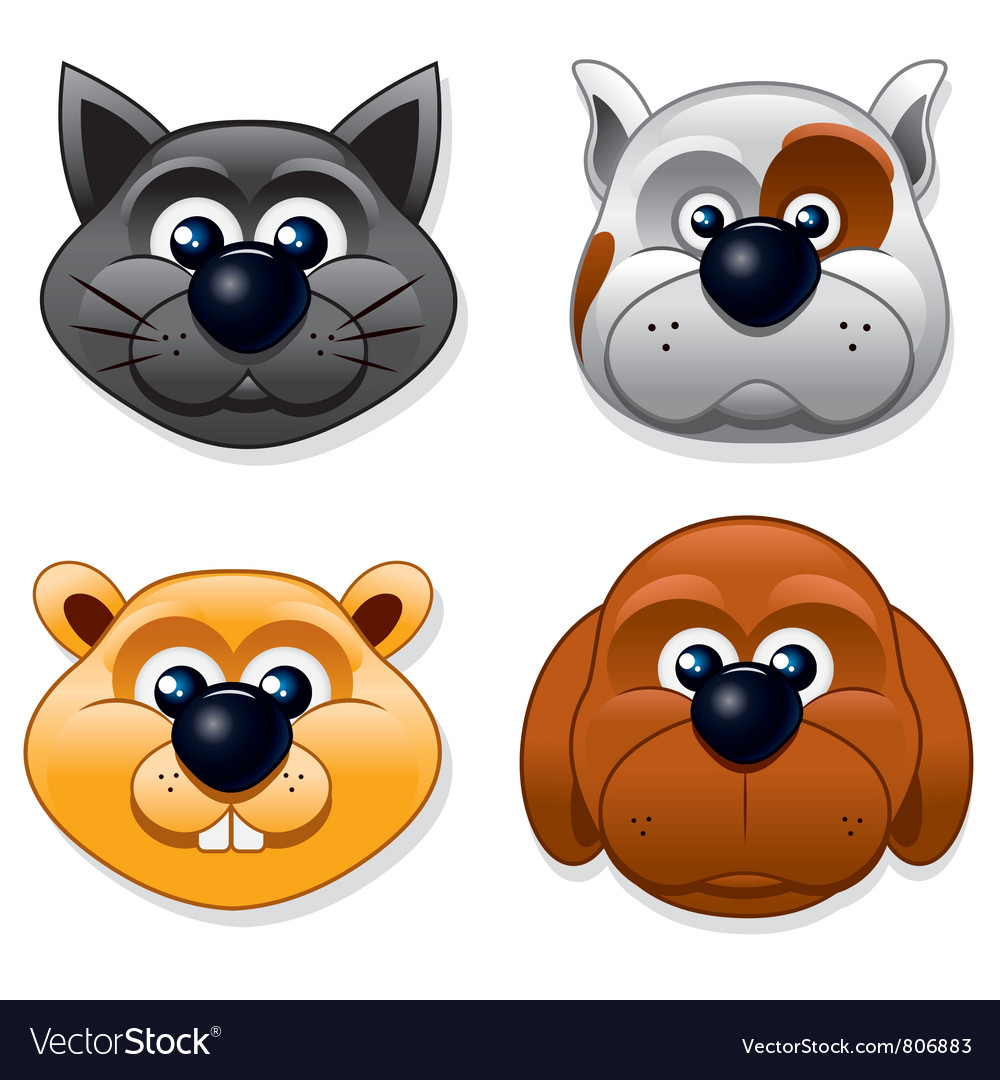 Domestic pet masks vector | Price: 3 Credit (USD $3)