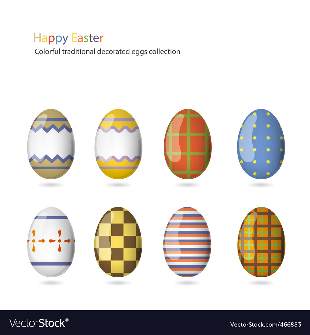 Easter eggs collection vector   Price: 1 Credit (USD $1)