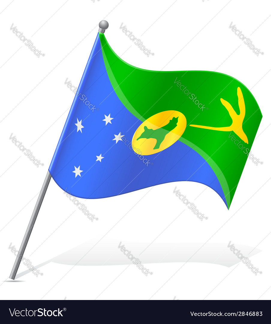 Flag of christmas island vector | Price: 1 Credit (USD $1)