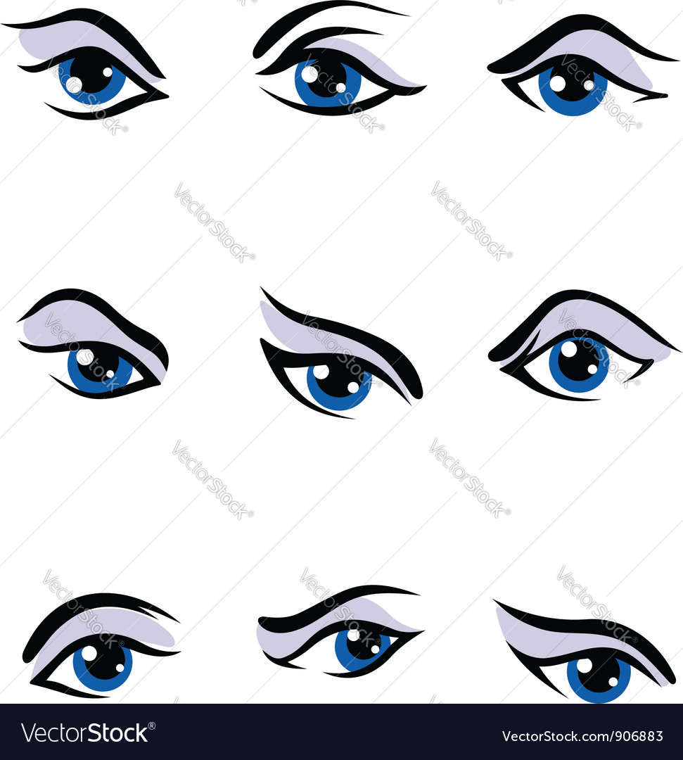 Human eyes set vector | Price: 1 Credit (USD $1)