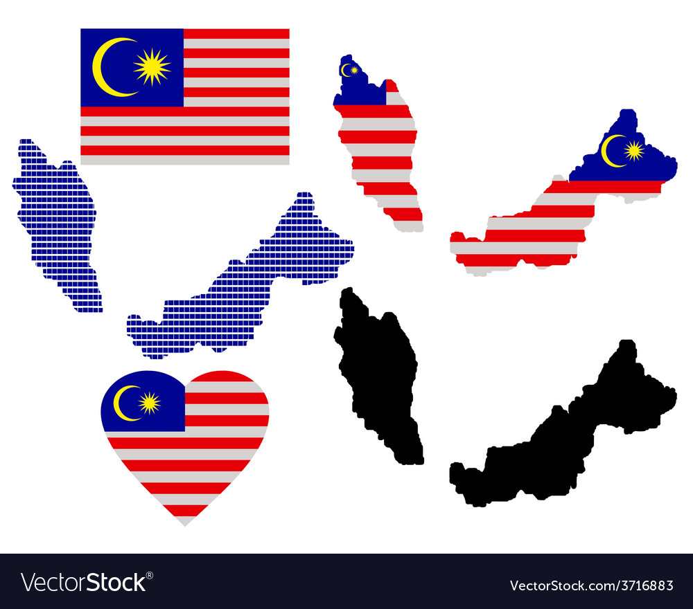 Maps of malaysia vector | Price: 1 Credit (USD $1)
