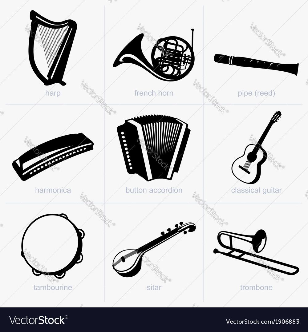 Music instruments vector | Price: 1 Credit (USD $1)