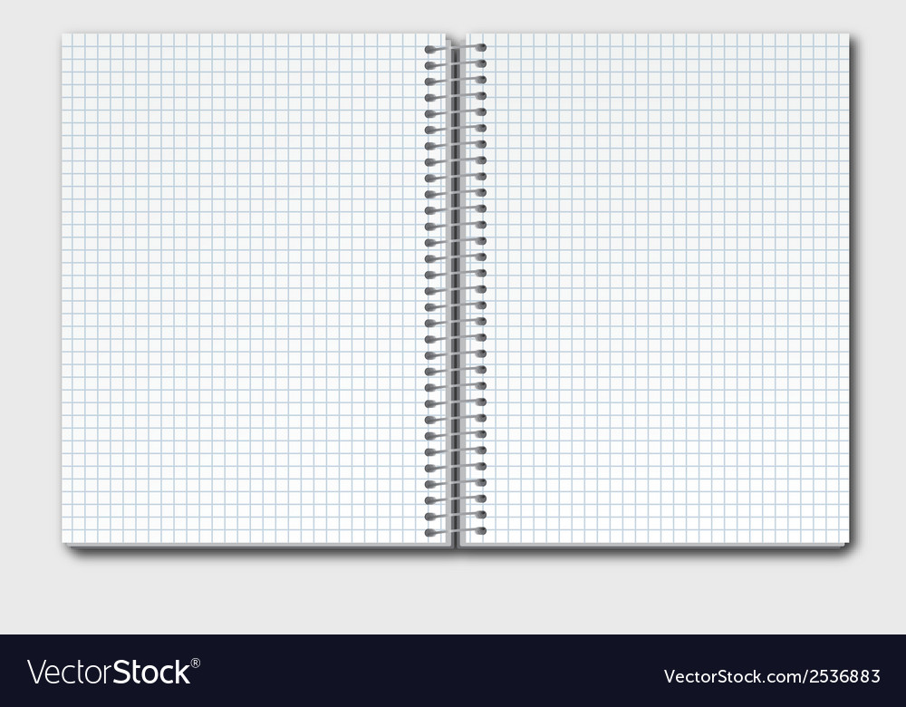 Open notebook copy vector | Price: 1 Credit (USD $1)