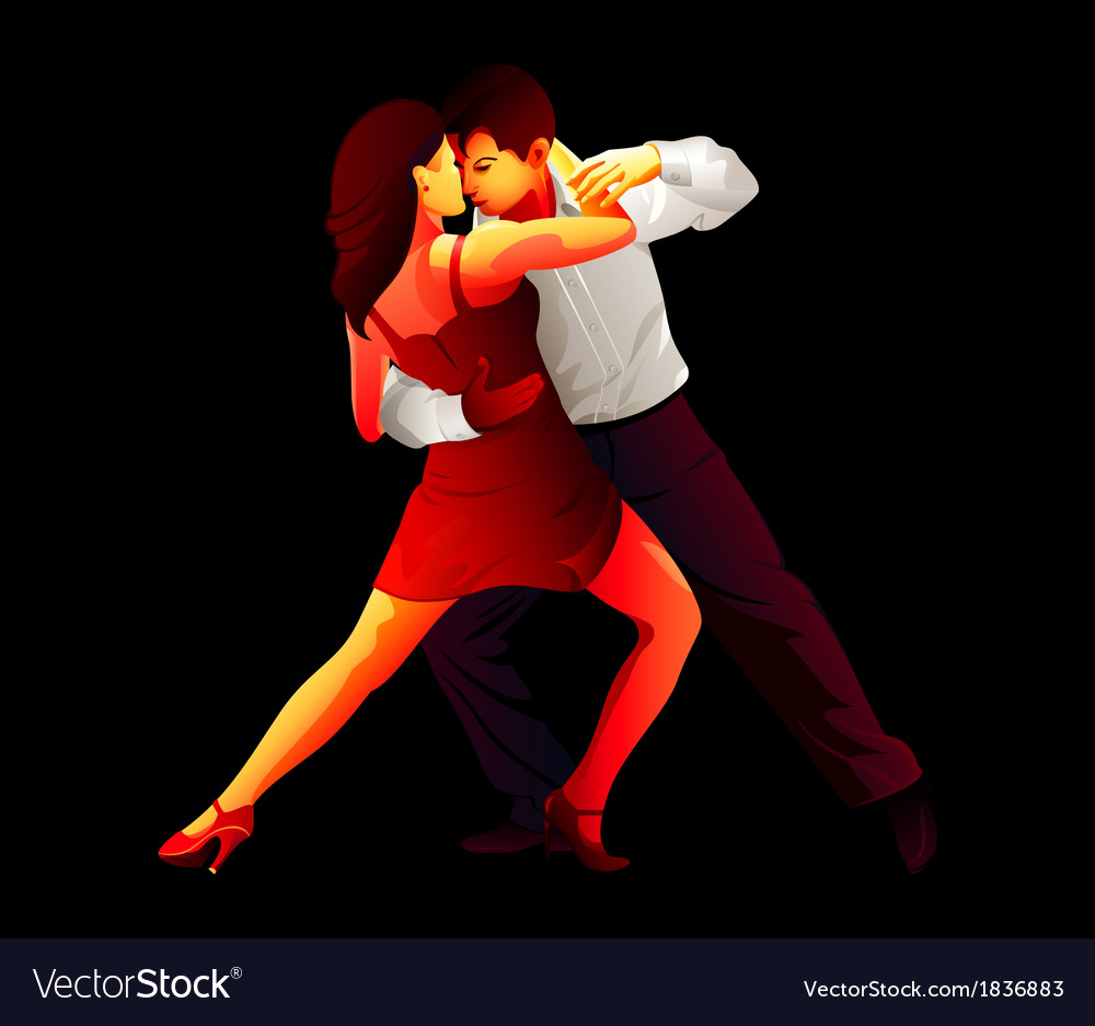 Tango lovers vector | Price: 1 Credit (USD $1)