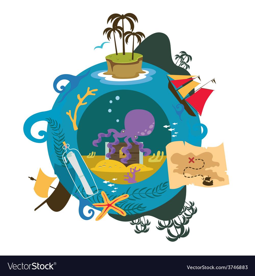 Treasure island game vector | Price: 1 Credit (USD $1)