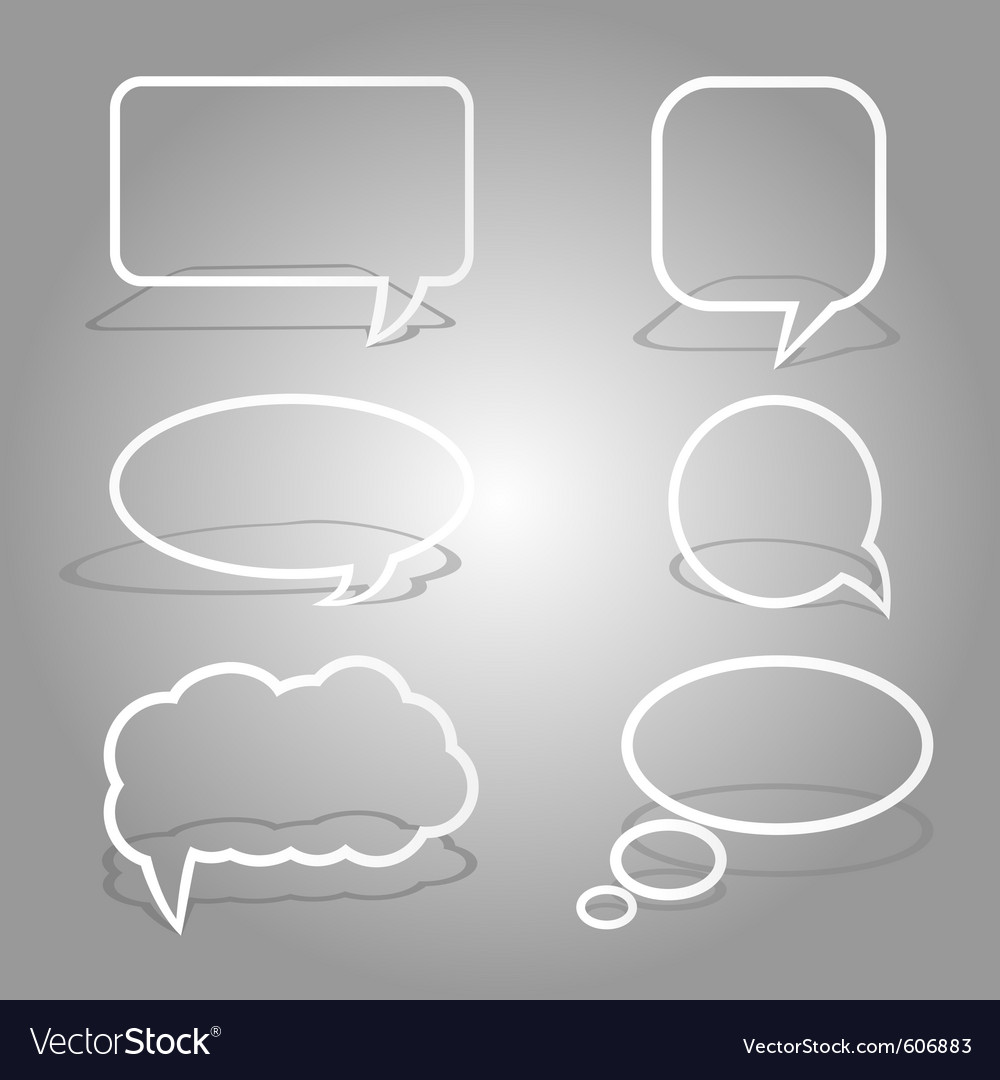 White dialog bubbles set vector | Price: 1 Credit (USD $1)
