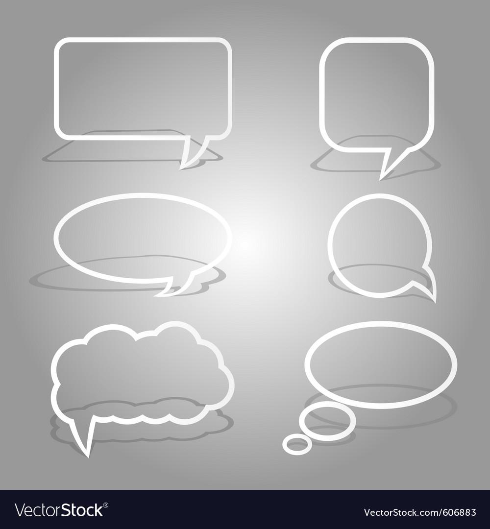 White dialog bubbles set vector | Price: 1 Credit (USD $1)