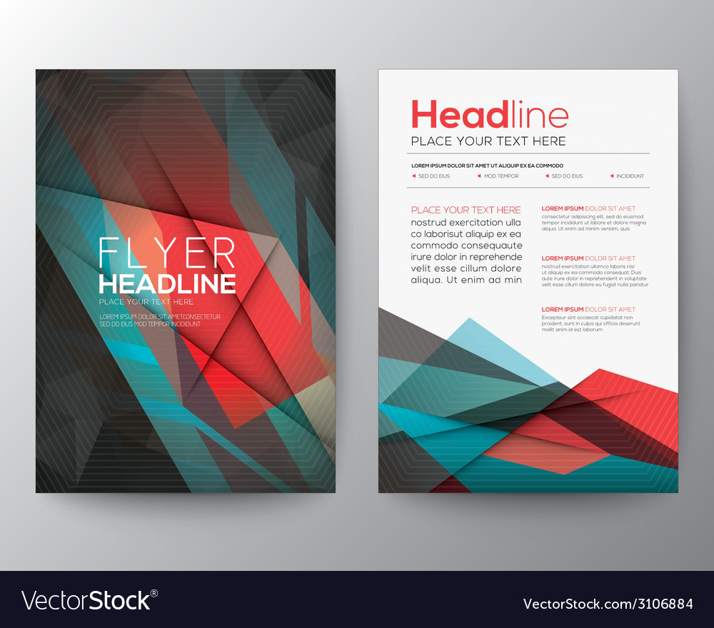 Abstract triangle geometric brochure flyer design vector | Price: 1 Credit (USD $1)