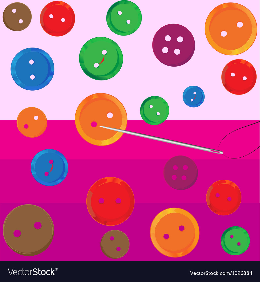 Assorted buttons vector