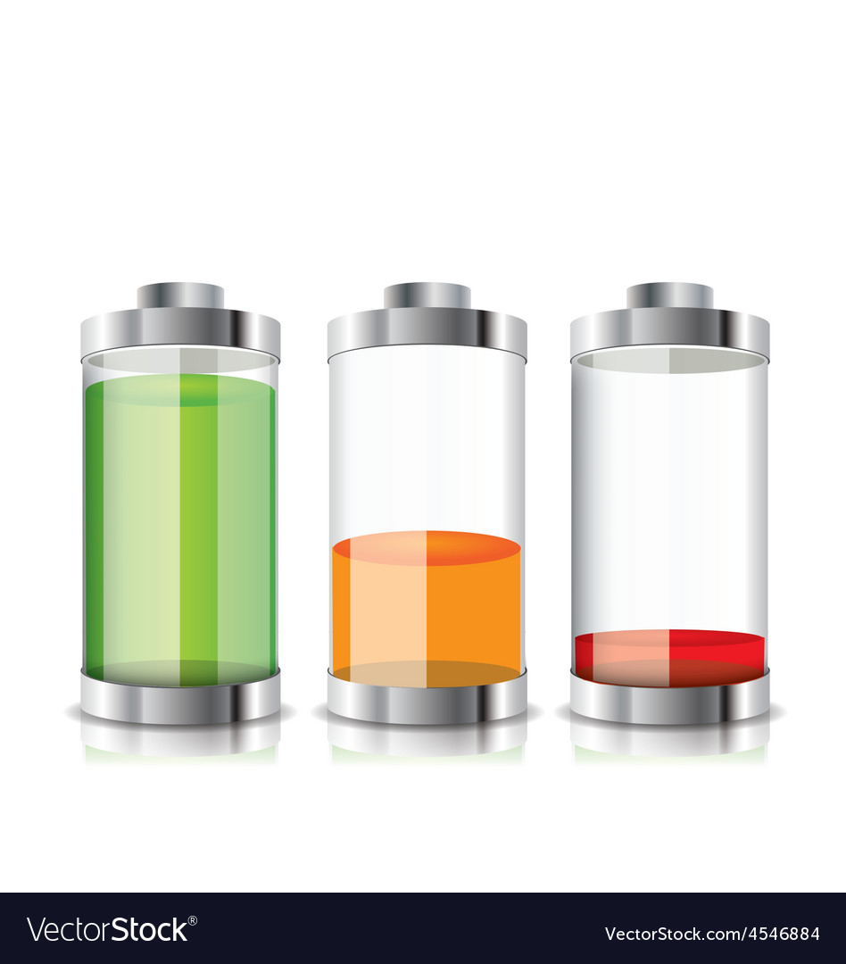 Battery icon with colorful charge level vector | Price: 1 Credit (USD $1)