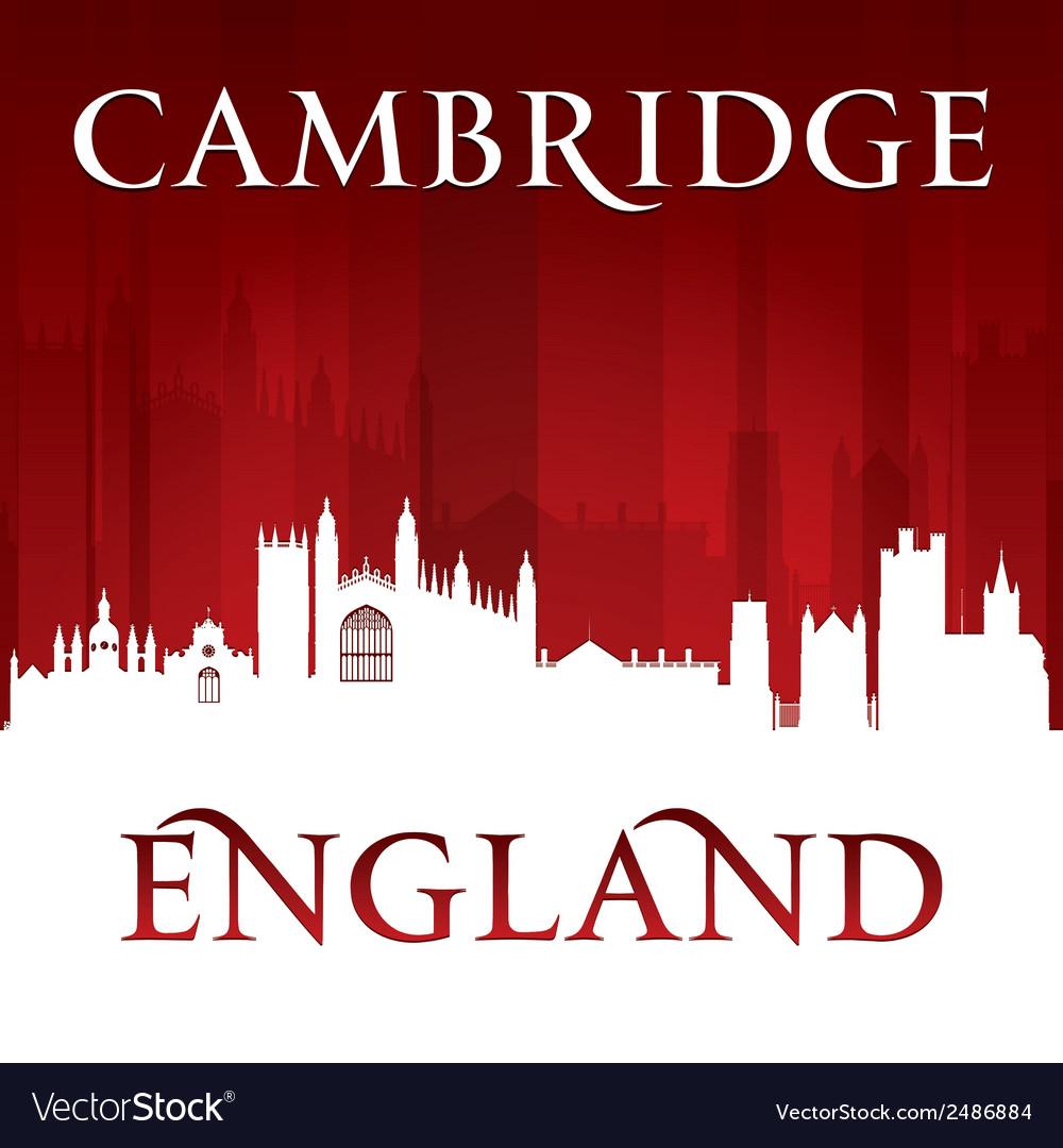 Cambridge england city skyline silhouette vector | Price: 1 Credit (USD $1)