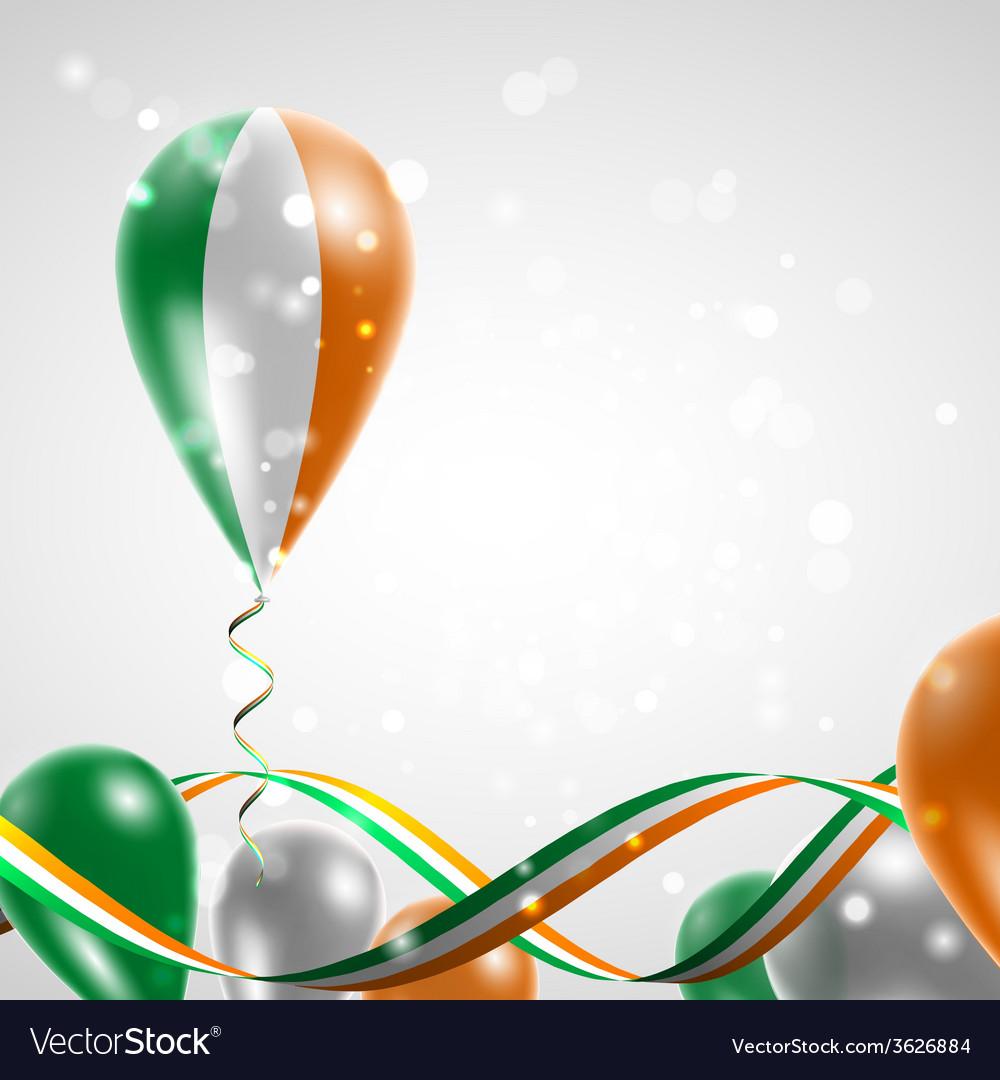 Flag of ireland on balloon vector | Price: 1 Credit (USD $1)