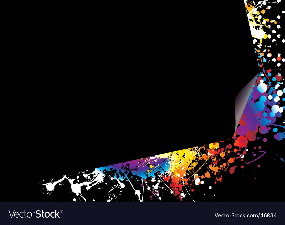 Page curl rainbow bright vector | Price: 1 Credit (USD $1)