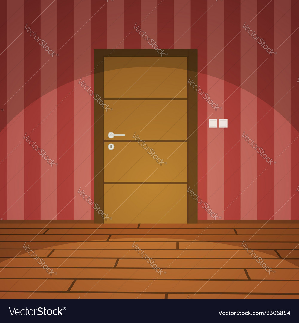 Room with door vector | Price: 1 Credit (USD $1)