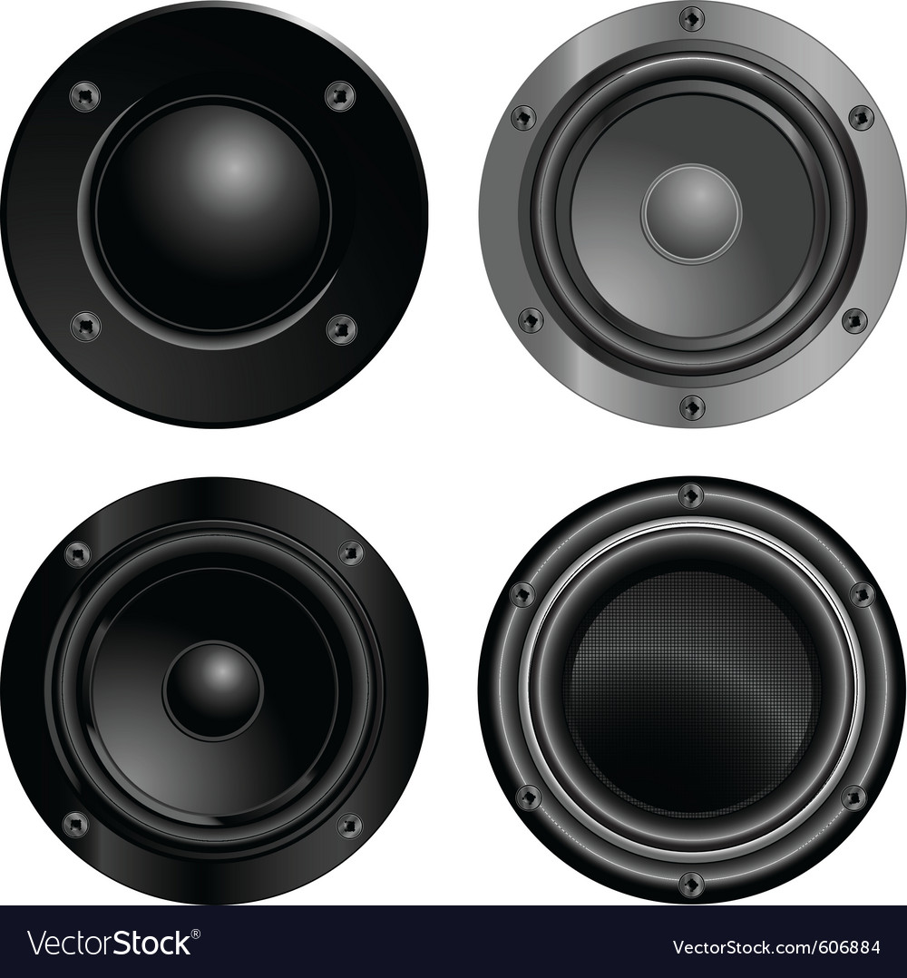 Set of sound speakers vector | Price: 3 Credit (USD $3)