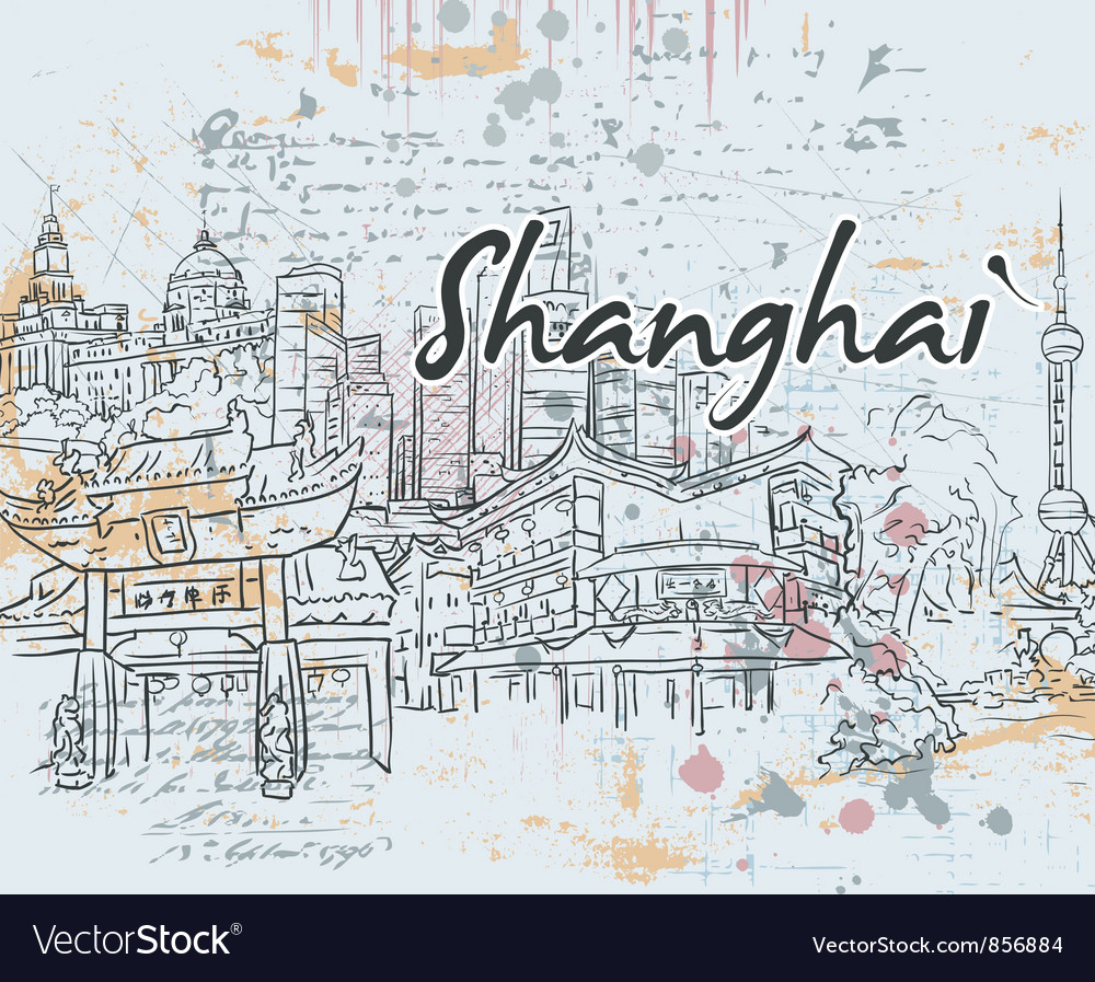 Shanghai doodles vector | Price: 1 Credit (USD $1)
