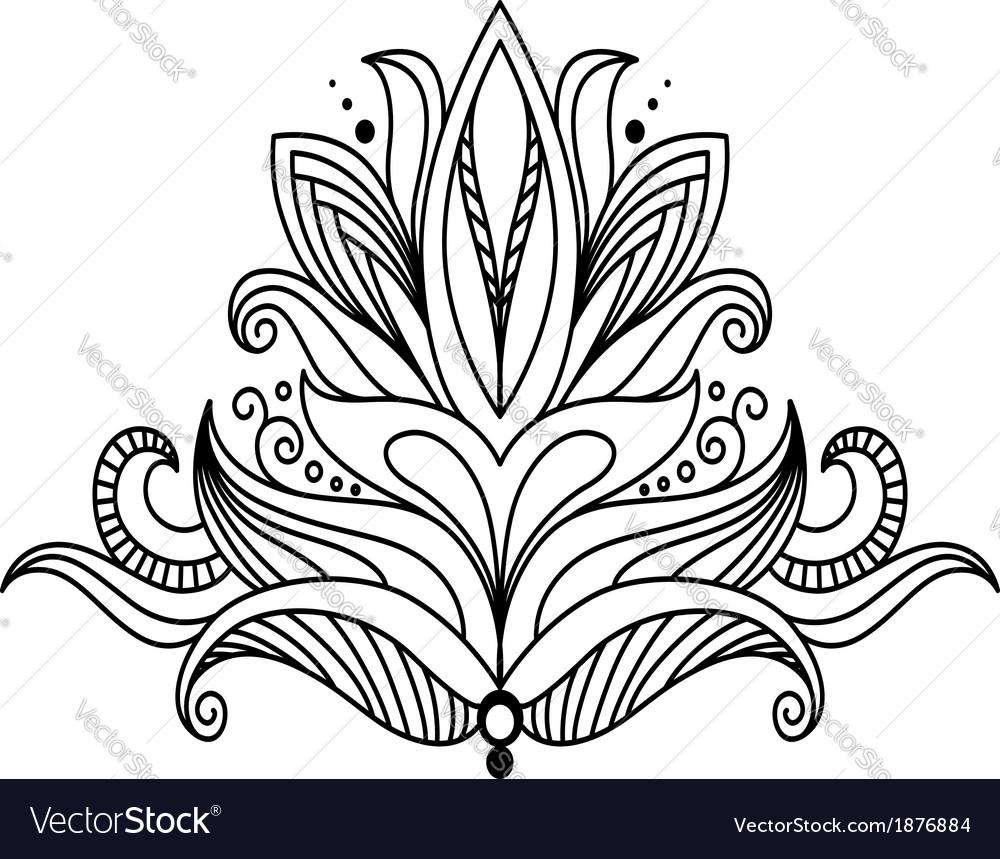 Symmetrical floral design element vector | Price: 1 Credit (USD $1)