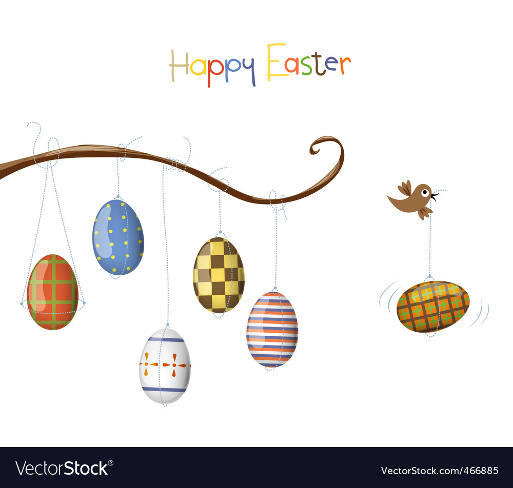 Birds with eggs vector | Price: 1 Credit (USD $1)