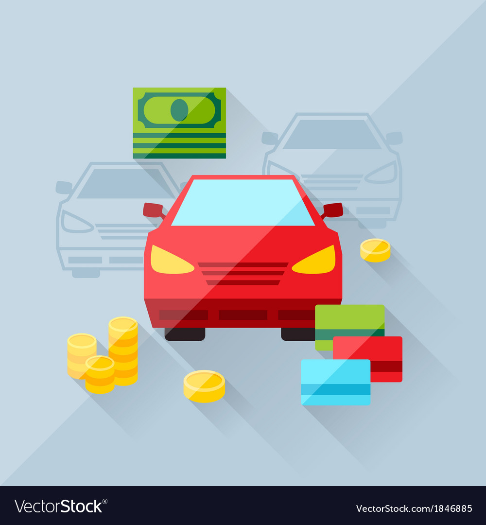 Concept of auto loan in flat design style vector | Price: 1 Credit (USD $1)