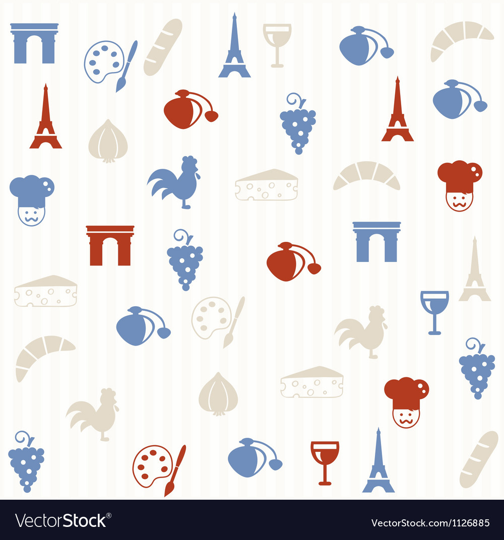 French seamless pattern vector   Price: 1 Credit (USD $1)