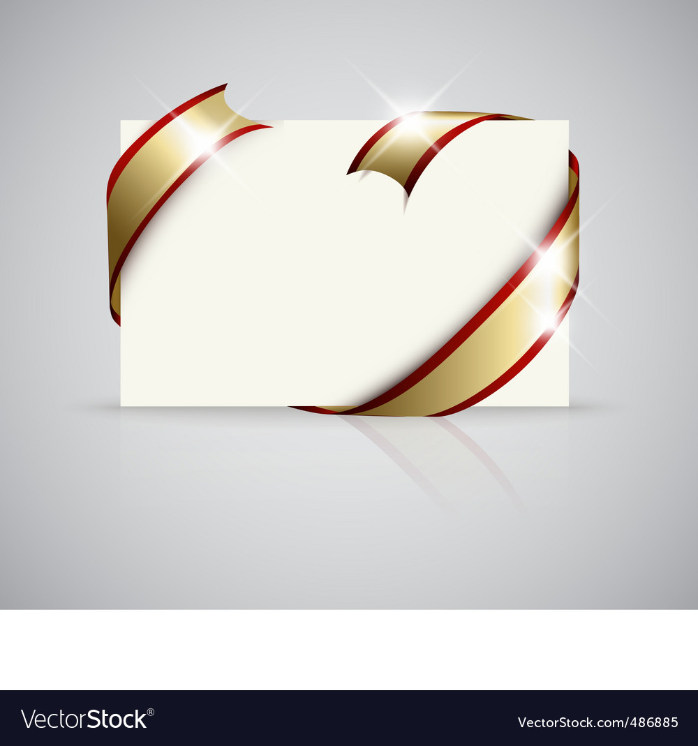 Gift card with ribbon vector | Price: 1 Credit (USD $1)