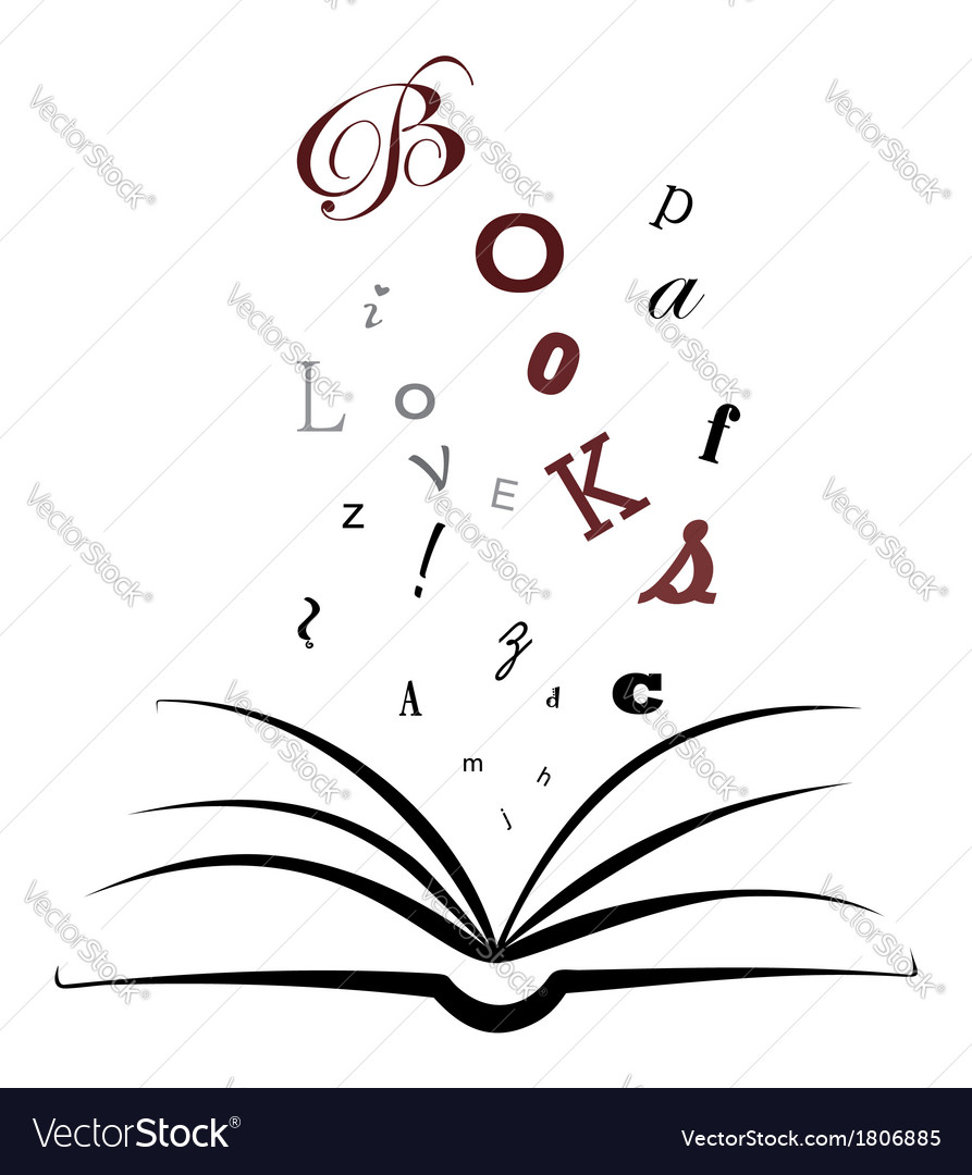 I love books vector | Price: 1 Credit (USD $1)