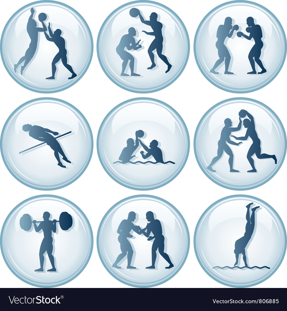 Olympic sport icons set vector | Price: 1 Credit (USD $1)