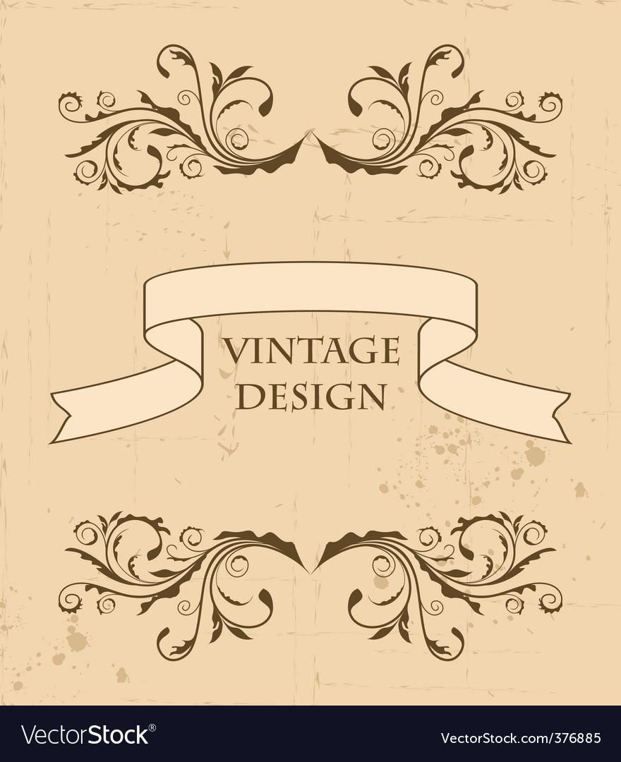 Retro design element vector | Price: 1 Credit (USD $1)