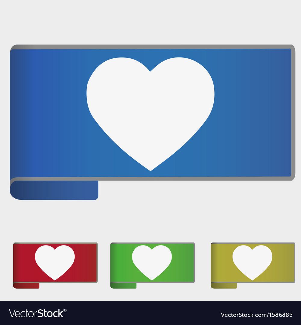 Web bookmark - heart vector | Price: 1 Credit (USD $1)