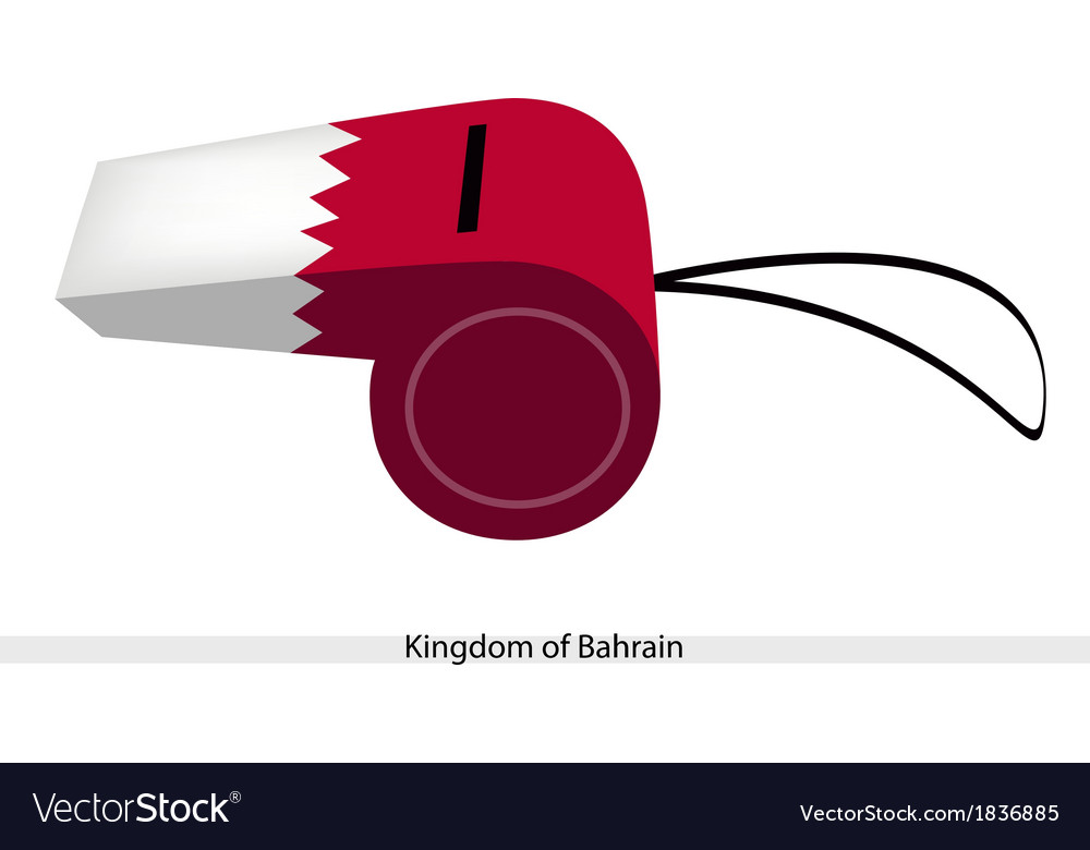 White and red color of bahrain whistle vector | Price: 1 Credit (USD $1)