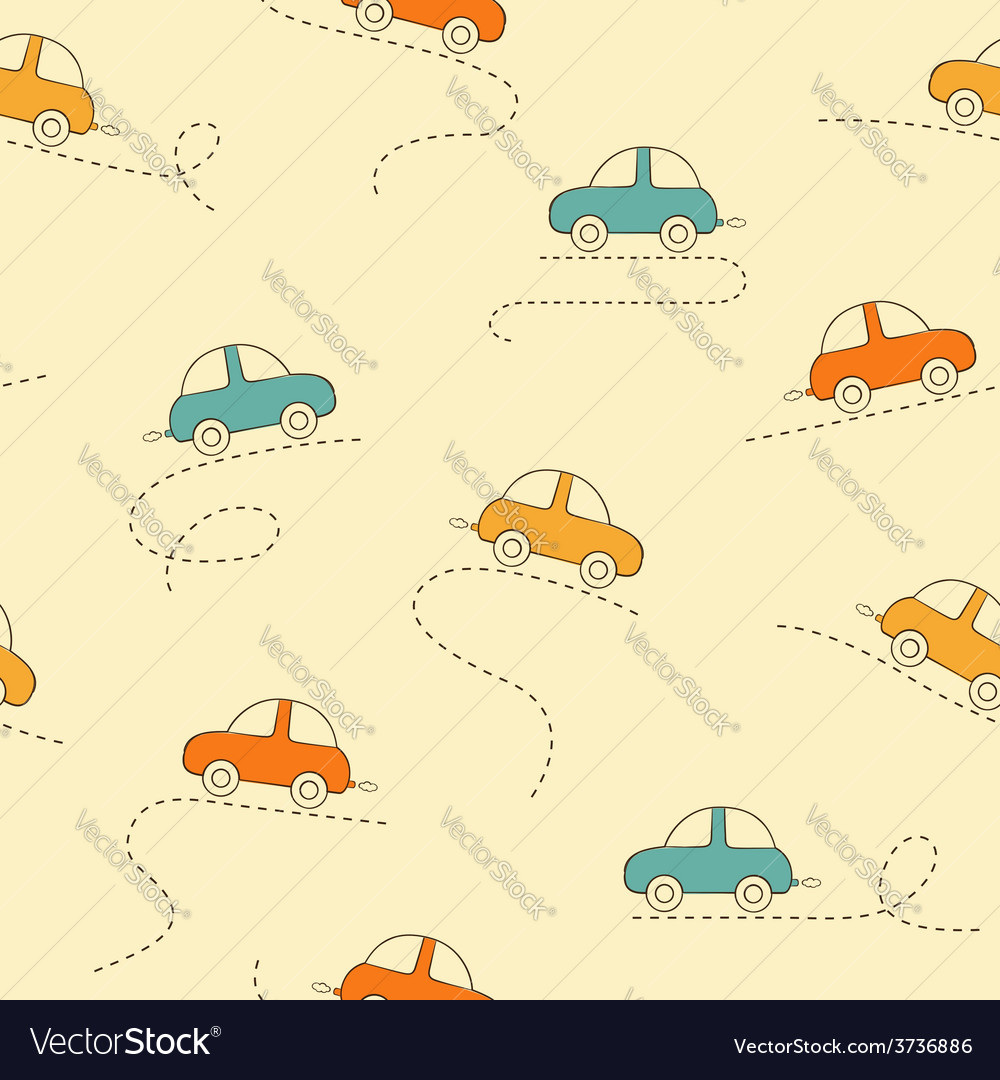 Cars seamless background vector | Price: 1 Credit (USD $1)