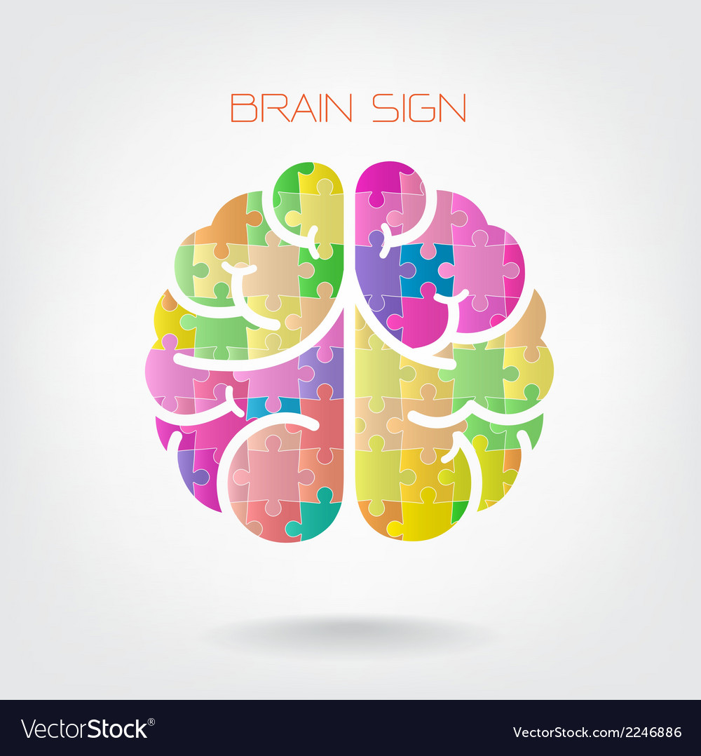 Creative jigsaw left and right brain vector | Price: 1 Credit (USD $1)