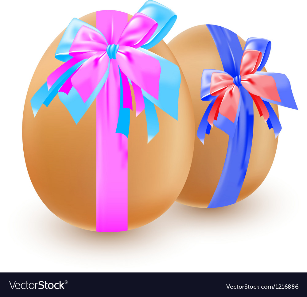 Eggs and bow vector | Price: 3 Credit (USD $3)