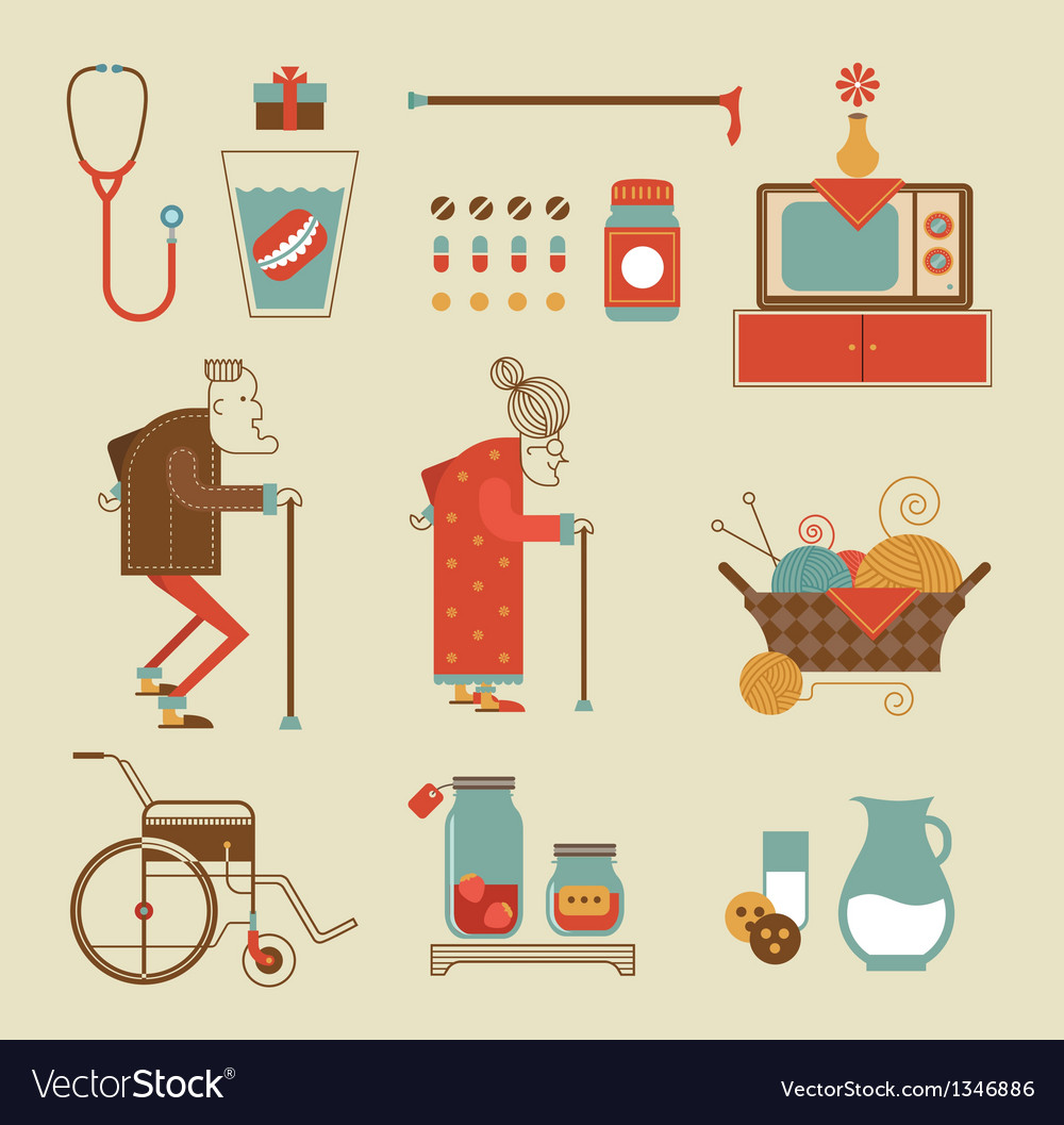 Granny icons vector | Price: 3 Credit (USD $3)