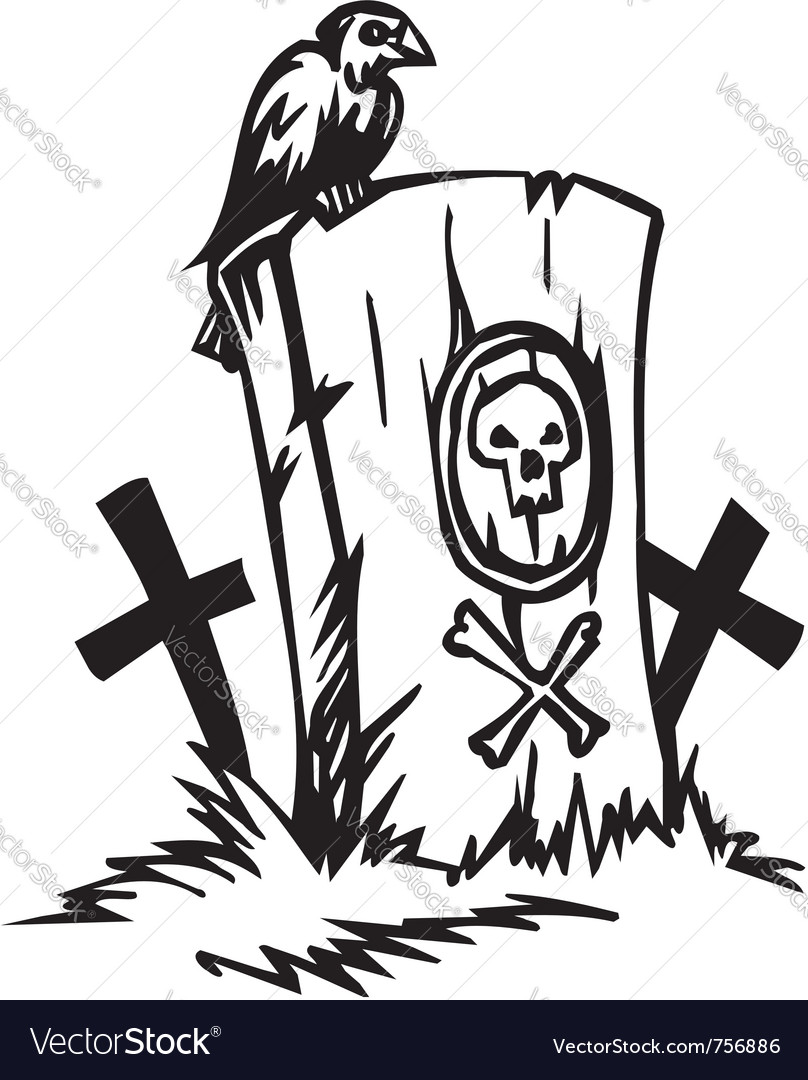 Grave - halloween set - vector | Price: 1 Credit (USD $1)