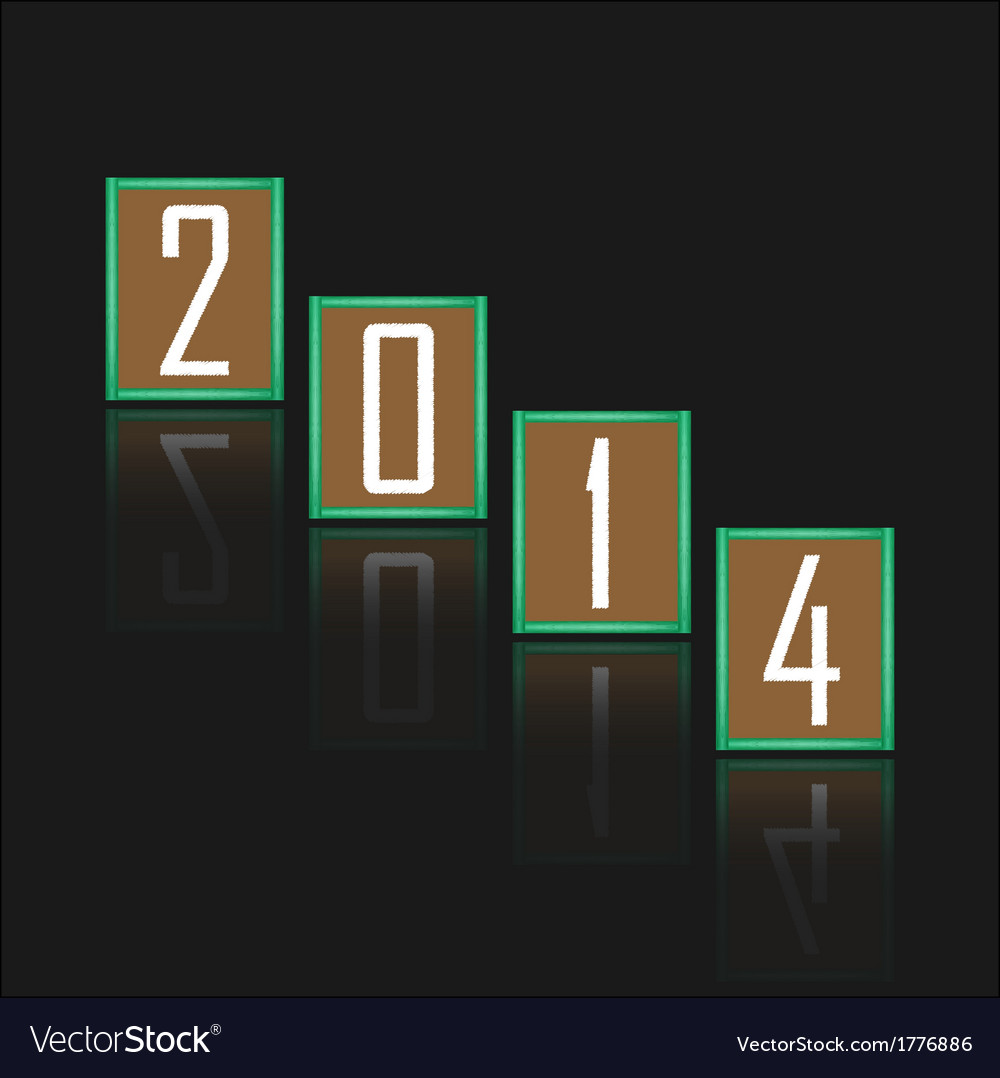 Happy new year 2014 background vector | Price: 1 Credit (USD $1)