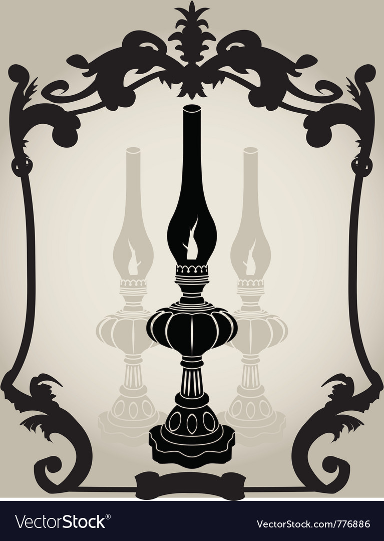 Oil lamp stencil vector | Price: 1 Credit (USD $1)