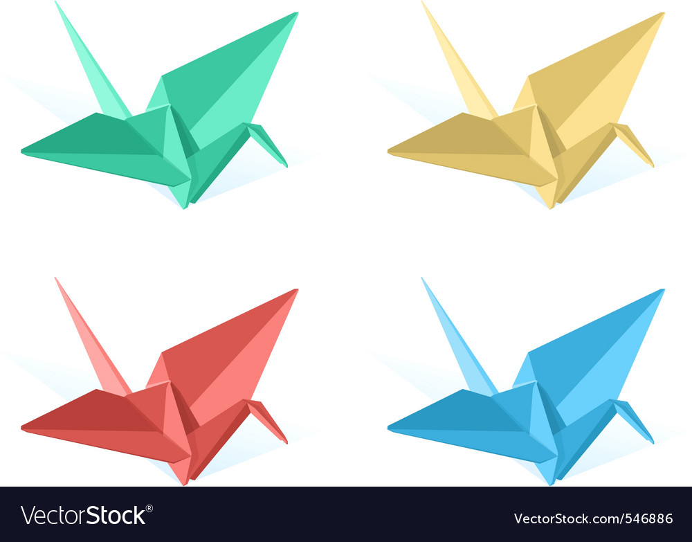 Origami paper crane vector | Price: 1 Credit (USD $1)