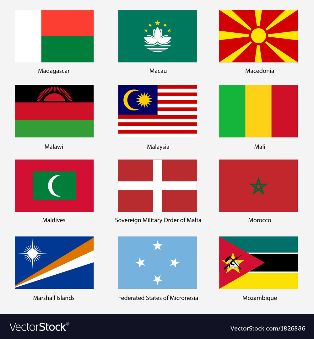 Set flags of world sovereign states  set n vector | Price: 1 Credit (USD $1)