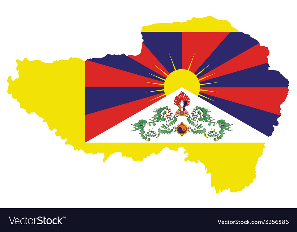 Tibet flag vector | Price: 1 Credit (USD $1)