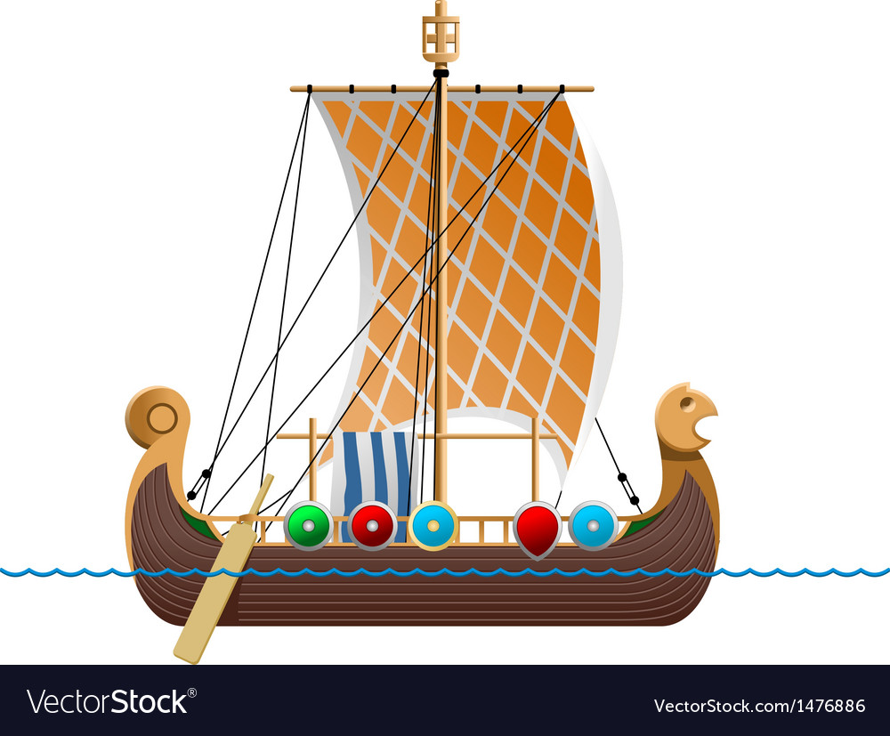 Viking ship vector | Price: 1 Credit (USD $1)
