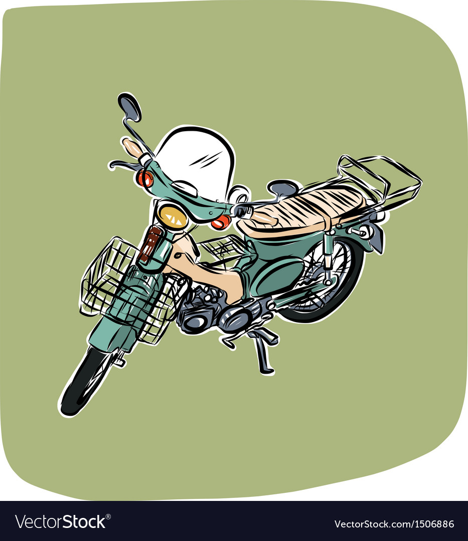 Vintage motorcycle vector | Price: 3 Credit (USD $3)