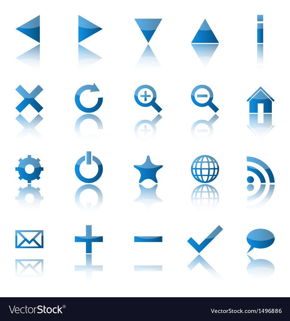 Web navigation icons isolaten on white background vector | Price: 1 Credit (USD $1)