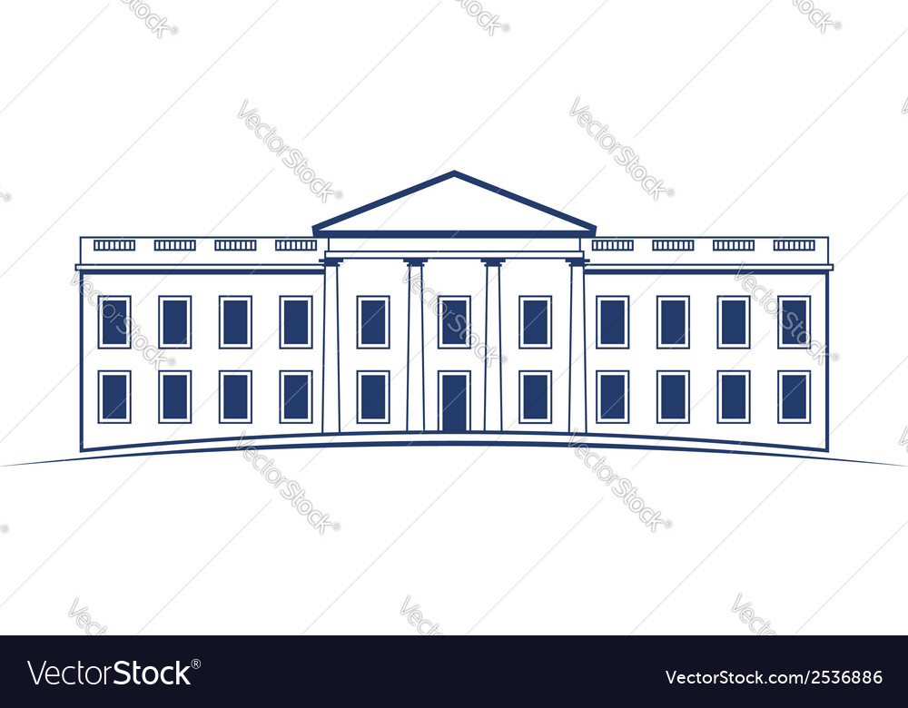 White house building icon vector | Price: 1 Credit (USD $1)