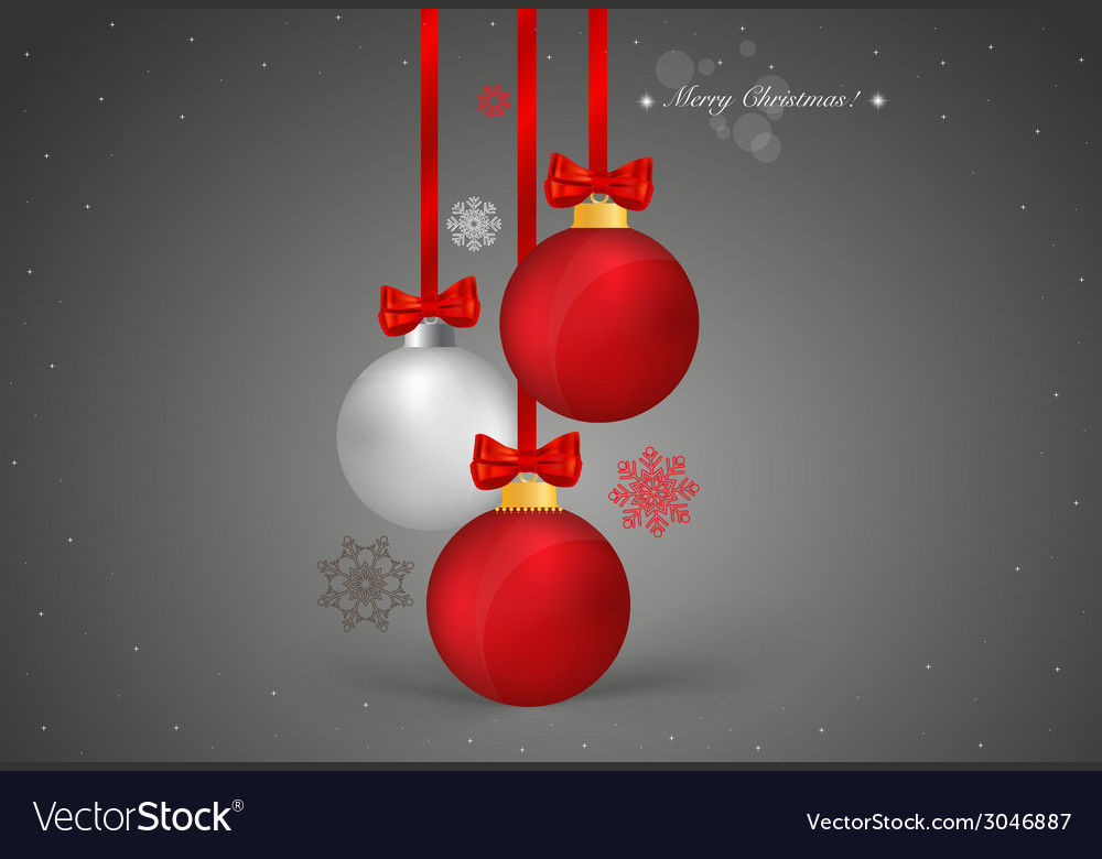 Christmas background with christmas ball vector | Price: 1 Credit (USD $1)