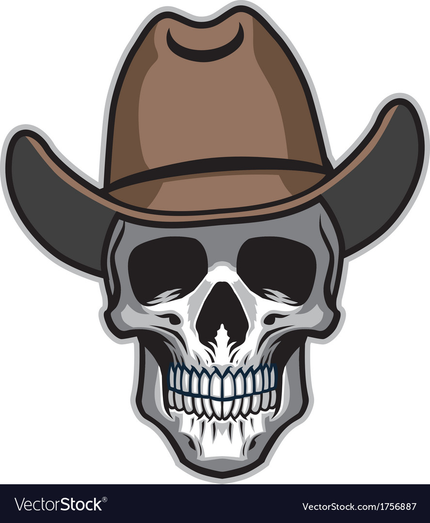 Cowboy skull vector | Price: 1 Credit (USD $1)