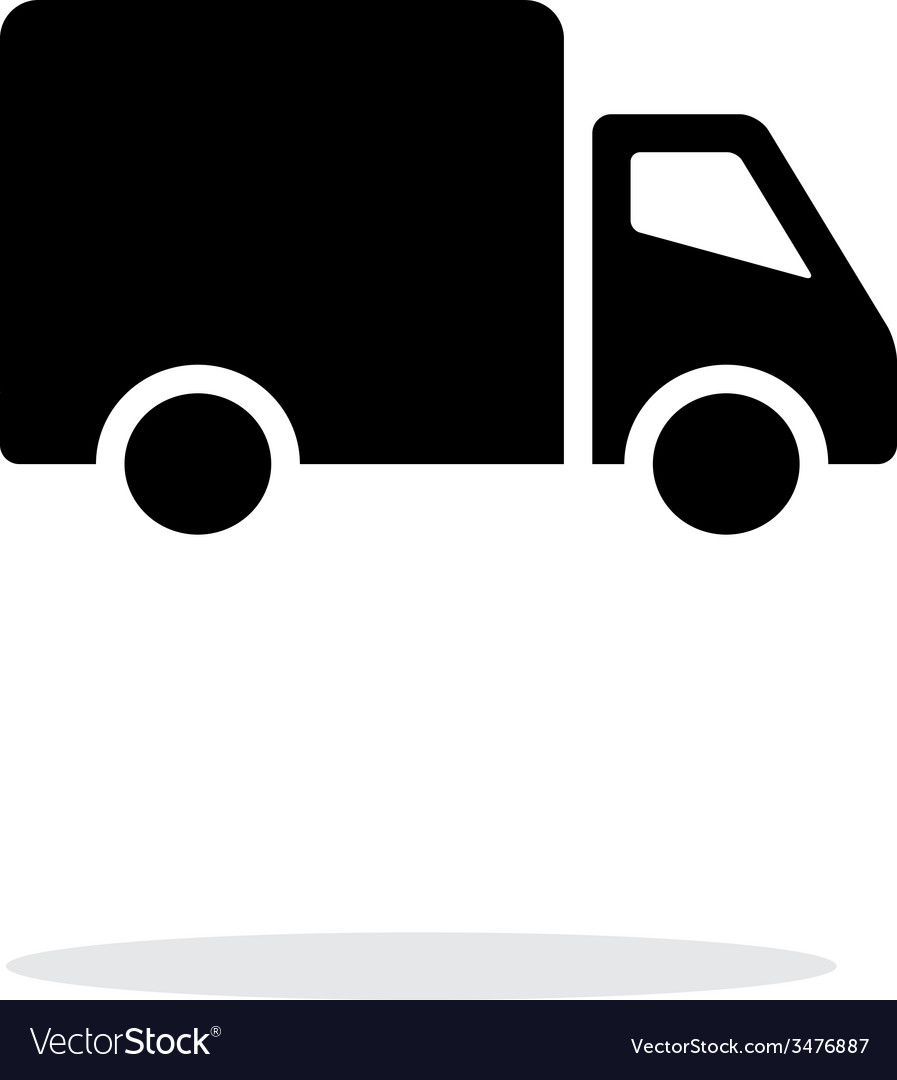 Delivery truck icon on white background vector | Price: 1 Credit (USD $1)