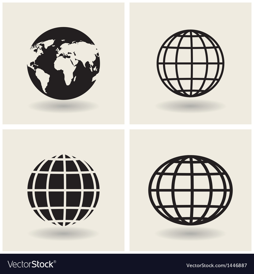Icons globes vector | Price: 1 Credit (USD $1)